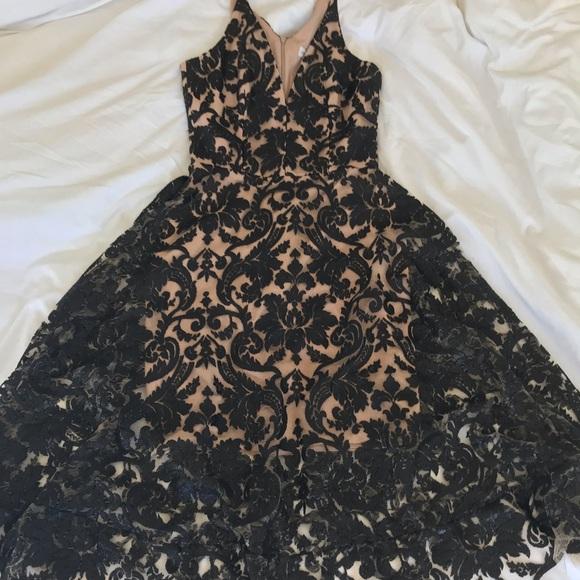 b68ed3c84d8 Dress the Population Dresses   Skirts - Blair Deep V-Neck Sequin Lace Midi  Dress